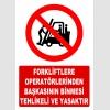 AT1417 - Forkliftlere Operatörlerinden Başkasının Binmesi Tehlikeli ve Yasaktır