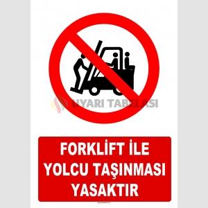 AT 1418 - Forklift İle Yolcu Taşınması Yasaktır