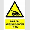 YT7203 - Mobil vinç kaldırma kapasitesi 115 ton