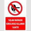 YT7228 - Taşlama makinasını korkuluksuz kullanmak yasaktır