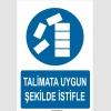 YT7100 - Talimata uygun şekilde istifle