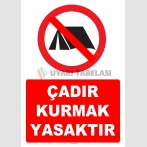 YT7254 - Çadır kurmak yasaktır