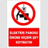 YT7270 - Elektrik panosu önüne hiçbir şey koymayın