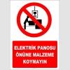 YT7269 - Elektrik panosu önüne malzeme koymayın
