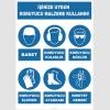 YT7291 - İşinize uygun koruyucu malzeme kullanın, baret, kulaklık, gözlük, eldiven, ayakkabı, emniyet kemeri