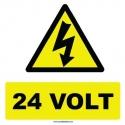 YT7285 - Elektrik tehlikesi 24 volt işareti levhası/etiketi