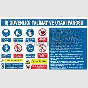 YT7046 - İş güvenliği talimat ve uyarı panosu levhası