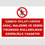 YT7390 - Yangın dolaplarının iş makinası, forklift, araç, makina parçaları ve araç yıkamalarında kullanılması yasaktır