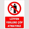 YT7396 - Lütfen yerlere çöp atmayınız