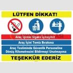 YT7398 - Araç içi kuralları levhası