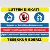 YT7405 - Tuvalet kuralları levhası