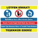 YT7404 - Tuvalet kuralları levhası