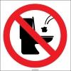 YT7400 - Tuvalete çöp atmayın levhası