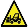 YT7394 - Dikkat forklift çıkabilir işareti levhası