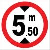 YT7411 - Yükseklik 5,50 metre sembolü levhası
