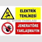 YT7418 - Elektrik tehlikesi, jeneratöre yaklaşmayın