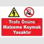YT7437 - Trafo önüne malzeme koymak yasaktır
