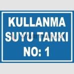 YT7461 - 1 numaralı kullanma suyu tankı