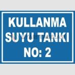 YT7462 - 2 numaralı kullanma suyu tankı