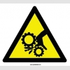 YT7488 - Dönen dişlilere el kaptırması riski işareti levhası/etiketi