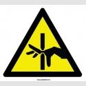 YT7489 - El sıkışması riski işareti levhası/etiketi