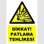 YT7499 - Dikkat patlama tehlikesi (patlayıcı madde)
