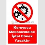 YT7546 - Koruyucu mekanizmaları iptal etmek yasaktır