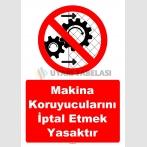 YT7548 - Makina koruyucularını iptal etmek yasaktır