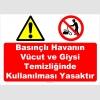 YT7593 - Basınçlı havanın vücut ve giysi temizliğinde kullanılması yasaktır