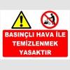 YT7594 - Basınçlı hava ile temizlenmek yasaktır