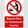 YT7595 - Basınçlı hava ile temizlenmek yasaktır