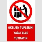 YT7604 - Oksijen tüplerini yağlı elle tutmayın