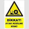 YT7628 - Dikkat ayak kesilme riski