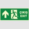 YT7669 - Fosforlu Acil Çıkış/Exit, Sol Yukarı