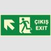 YT7670 - Fosforlu Acil Çıkış/Exit, Sol Yukarı