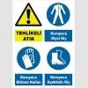 YT7762 - Dikkat tehlikeli atık, koruyucu giysi, eldiven, ayakkabı giy