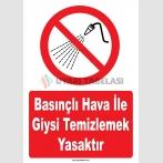 YT7772 - Basınçlı hava ile giysi temizlemek yasaktır