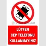 YT7797 - Lütfen cep telefonu kullanmayınız
