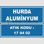 ZY1024 - 170402 atık kodlu hurda aluminyum