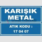 ZY1028 - 170407 atık kodlu karışık metal