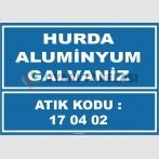 ZY1034 - 170402 atık kodlu hurda aluminyum galvaniz