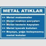 ZY1042 - Metal atık, metal malzemeler, makina parçaları, testere kayışları, içecek kutuları, boya yağa bulaşmamış kutular