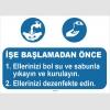 YT7053 - İşe başlamadan önce ellerinizi yıkayın, kurulayın ve dezenfekte edin