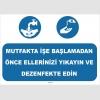 YT7057 - Mutfakta işe başlamadan önce ellerinizi yıkayın ve dezenfekte edin