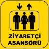 ZY1139 - Ziyaretçi Asansörü, sarı - siyah, kare