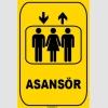 ZY1172 - Asansör, sarı - siyah, dikdörtgen