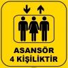 ZY1177 - Asansör 4 Kişiliktir