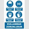 ZY1196 - Koruyucu baret, gözlük, maske, eldiven kullanmak zorunludur
