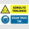 ZY1315 - Gürültü Tehlikesi, Kulak Tıkacı Tak