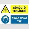 ZY1321 - Gürültü Tehlikesi, Kulak Tıkacı Tak